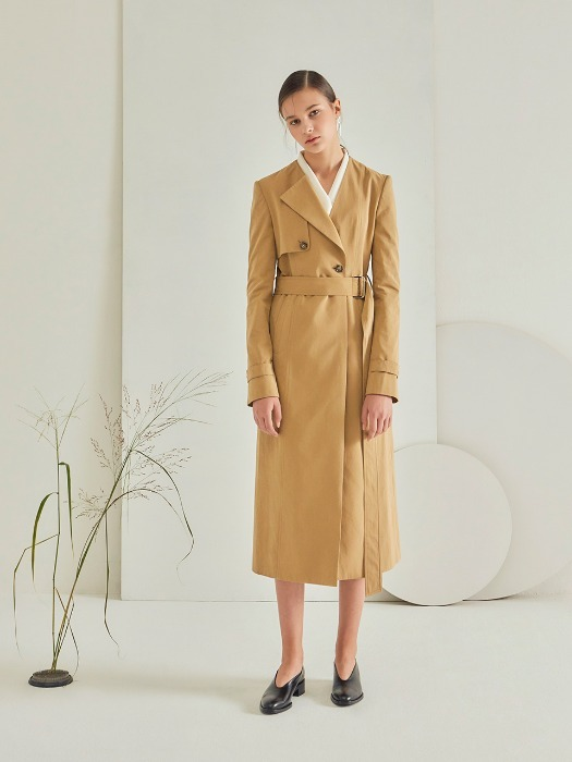 [HEINIQUE] A Collar Trench Coat