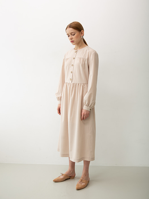[Order Made] Minimal Shirring Dress
