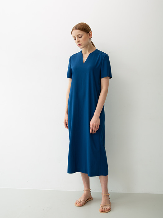 [HEINIQUE] Basic Long dress (blue)