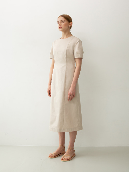 [Capsule Line]  Volume sleeve dress (Ivory)